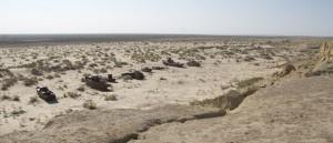 Aral Sea / ship graveyard in Muinak, Uzbekistan