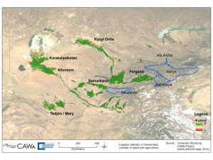 Irrigated cropland extent Central Asia