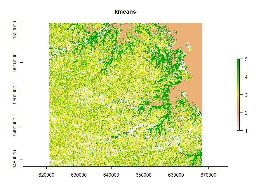 unsupervised classification with R | Remote Sensing News