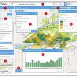 Open-Source WebGIS WUEMoCA (Water Use Efficiency Monitor in Central Asia)