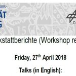 Workshop Reports at the Department of Remote Sensing – April 27, 2018