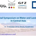 International Symposium on Water and Land Resources in Central Asia, 9-11 October 2018, Almaty