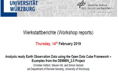 Workshop Report at the Department of Remote Sensing – February 14, 2019